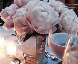 The Art of Entertaining. Beautiful tablescape featuring a floral centrepiece.
