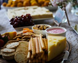 What is Entertaining? Entertaining can be as simple as a platter of cheese and dips.