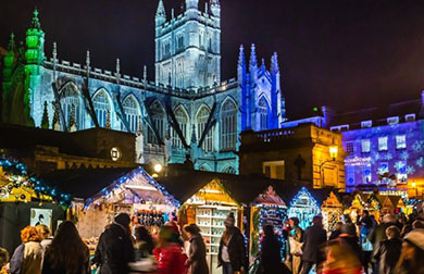 The Christmas Market in Bath is award winning and divine
