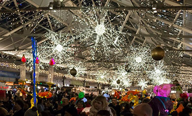 The Greenwich Market boasts over 100 stalls with all kinds of interesting things to add to your presents pile for the holidays