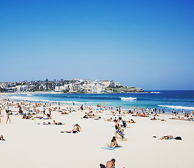 A trip to Sydney must include a visit to the iconic Bondi Beach made famous in part by the hit show Bondi Rescue